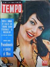 TEMPO n°28 1960 Rosanna Schiaffino - I Diari di Mussolini - Mina [C89]
