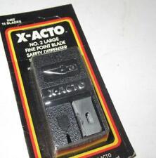 X-ACTO- X402- #2 SAFETY DISPENSER W/15 BLADES - NEW - H15