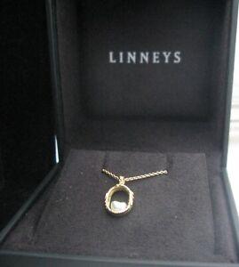 Linneys South Sea Pearl 18k Yellow gold pendant 3.5g