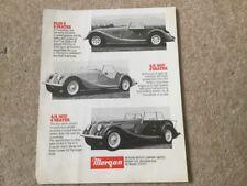 MORGAN RANGE orig 1980s UK Mkt Sales Leaflet Brochure - 4/4 1600 Plus 8