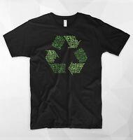 Recycling Logo T Shirt Top Bike Ecology Environment WWF Greenpeace Vegan Animals