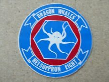 AUTOCOLLANT STICKER DRAGON WHALES HELICOPTER COMBAT SUPPORT SQUADRON 8 HC-8