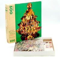 Springbok A Christmas Memory Tree 500 PC Shaped Jigsaw Puzzle 1993 XZL7001