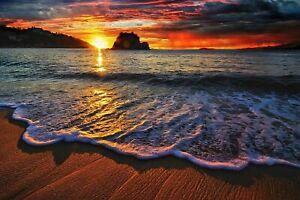 SUNSET BEACH SCENE CANVAS 20X30 INCHES WALL ART