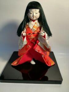 Japanese Antique Doll NIHON NINGYOU Kimono,Hue,Kosode, Used-MINT From Japan