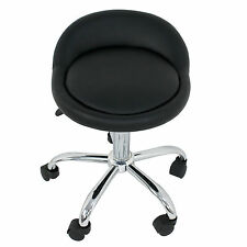 Adjustable Height Hydraulic Rolling Swivel Stool Spa Salon Chair with Back Rest