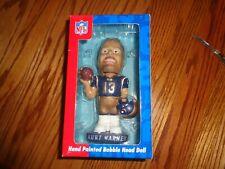 NFL Collectible Hand Painted Kurt WARNER 13 Bobble HEAD St LOUIS RAMS Football