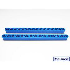 Lego Technik Liftarm breit / dick Länge 15 / 1x15 blau 2 Stück »NEU« # 32278