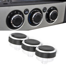 3PCS Black Air Conditioning Heat Control Switch AC Knob For Ford Focus MK2 MK3