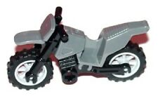 x1 Lego Motorcycle Bike FOR CITY MINIFIGS Dark Bluish Gray DIRT BIKE 7620