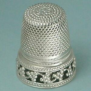 Vintage Wengert Sterling Silver Grape Vine Thimble * Germany * Late 1900s