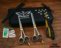 "Professional Barber Hairdressing Scissors Hair Cutting Shear 6.5"" Japanese Steel"