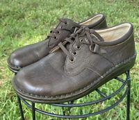 Finn Comfort Vaasa Womens Brown Leather Shoes Lace Up Walking Nursing Sz 37 US 6