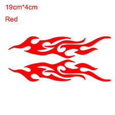 Hot 2pcs Vehicle Reflective Stickers Flame Fire Car Bumper Door Body Decal Decor