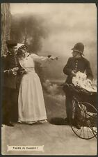 """Taken in Charge"" Policeman Searching the Pram ? 1912 Posted Davidson Bros Card"