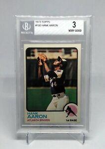 1973 Topps Hank Aaron Card BGS 3