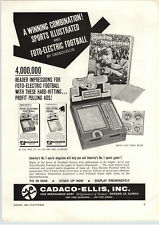 1962 PAPER AD Foto Electric Football Game Cadaco Ellis Barbie Doll Bedroom Bed