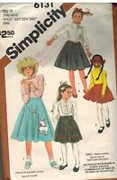 6131 Vintage Simplicity Sewing Pattern Set of Skirts in 3 Lengths Poodle OOP SEW