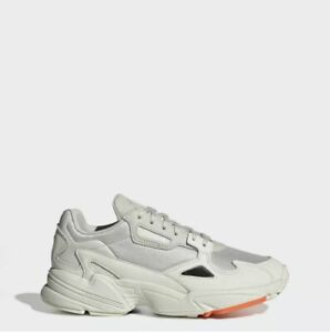 Adidas Falcon Size 5.5 Off-White With Orange Sole Detail