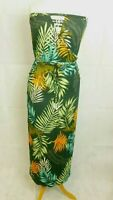 Next Leaf Print Maxi Dress Green Petite Size UK 12P DH087 FF 03