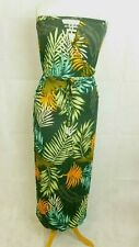 Next Leaf Print Maxi Dress Green Petite Size UK 18 DH099 HH 20