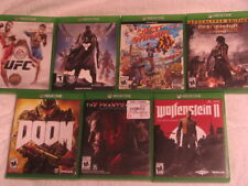 LOT OF 7 XBOX ONE GAMES (UFC, DOOM, WOLFENSTEIN)