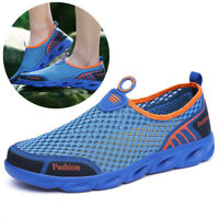 Mens Mesh Water Shoes Slip On Casual Walking Outdoor Flats Sneakers Breathable