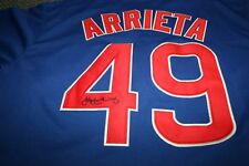 JAKE ARRIETA AUTOGRAPHED SIGNED CHICAGO CUBS MAJESTIC JERSEY SIZE 48 PHILLIES