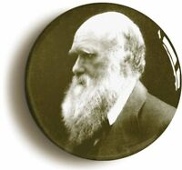 CHARLES DARWIN BADGE BUTTON PIN (Size 1inch/25mm diameter) SCIENCE EVOLUTION