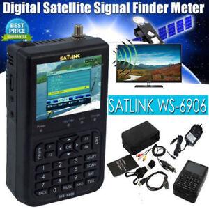SATlink WS-6906 3.5'' HD DVB-S FTA Data Digital Satellite Signal Finder Meter