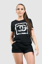 New Womens Ladies  CG Short Sleeve T shirt Top & Shorts Co-ord Set 6-14 n