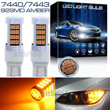 2x 92-4014-SMD High Power 7443 Amber Yellow Bright Front Turn Signal Light Bulbs