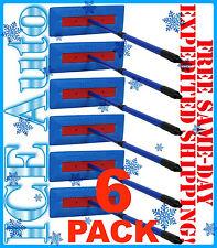 """6 PACK - SNO BRUM Snow Broom Rake w/ 27"""" - 46"""" Telescoping Handle by Angel Guard"""
