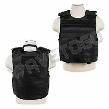 VISM NcSTAR SWAT Tactical Armor 2XL+ MOLLE Expert Plate Carrier Body Vest Black
