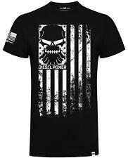 Diesel Power Gear Rank & File Flag Official Diesel Sellerz Black Mens T-Shirt