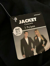Amscan Solid Black Halloween Costume Top Jacket- Size Xs/S Mens / Womens Nwt!