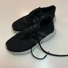 Adidas Boys Sneakers Size 3 Black Kids Tennis Shoes