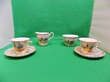 Hazel Sharon Crinoline Lady 2 x Cups & Saucers, Milk Jug, Sugar Bowl