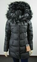 NWT Womens The North Face TNF Fur HD Down Parkina Parka Warm Winter Jacket Black