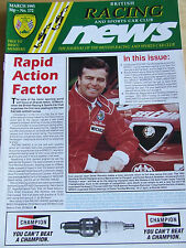 BRITISH RACING CLUB MAGAZINE MAR 1995 #172 ISOSTAR BRANDS HATCH MARSHALS REGISTR