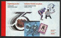 Canada BK148: NHL 75th Anniversary Prestige Booklet, 3 panes of 1443-1445, VF-NH