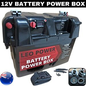 Portable Battery Power Box 12V Deep Cycle AGM Camping Outdoor Power Station LP50