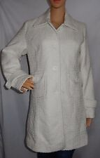 """KATIES"" - Size M - Great PreLoved - ""White"" Long Lined Collared Coat/Jacket"