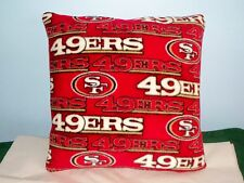 NEW SAN FRANCISCO 49ERS FLEECE PILLOW GOLD SCARLET NFL FOOTBALL L@@K