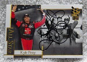 Nascar Star Kyle Petty Signed 2006 Press Pass VIP Card Auto