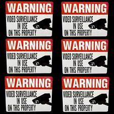 LOT VIDEO SURVEILLANCE SECURITY CAMERA WARNING STICKERS