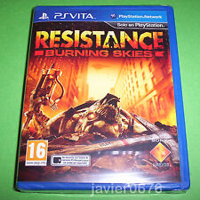 RESISTANCE BURNING SKIES NUEVO Y PRECINTADO PAL ESPAÑA PLAYSTATION PS VITA