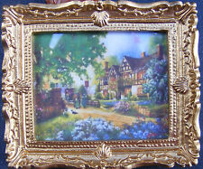 1:12 Scale Framed Picture (Print) Of A Victorian Garden Dolls House Miniature JD