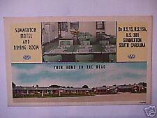 Summerton Motel, Summerton, SC  vintage postcard