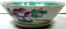 1600Ad Ming Dynasty China Hand Painted Famille Rose Porcelain Scalloped Bowl